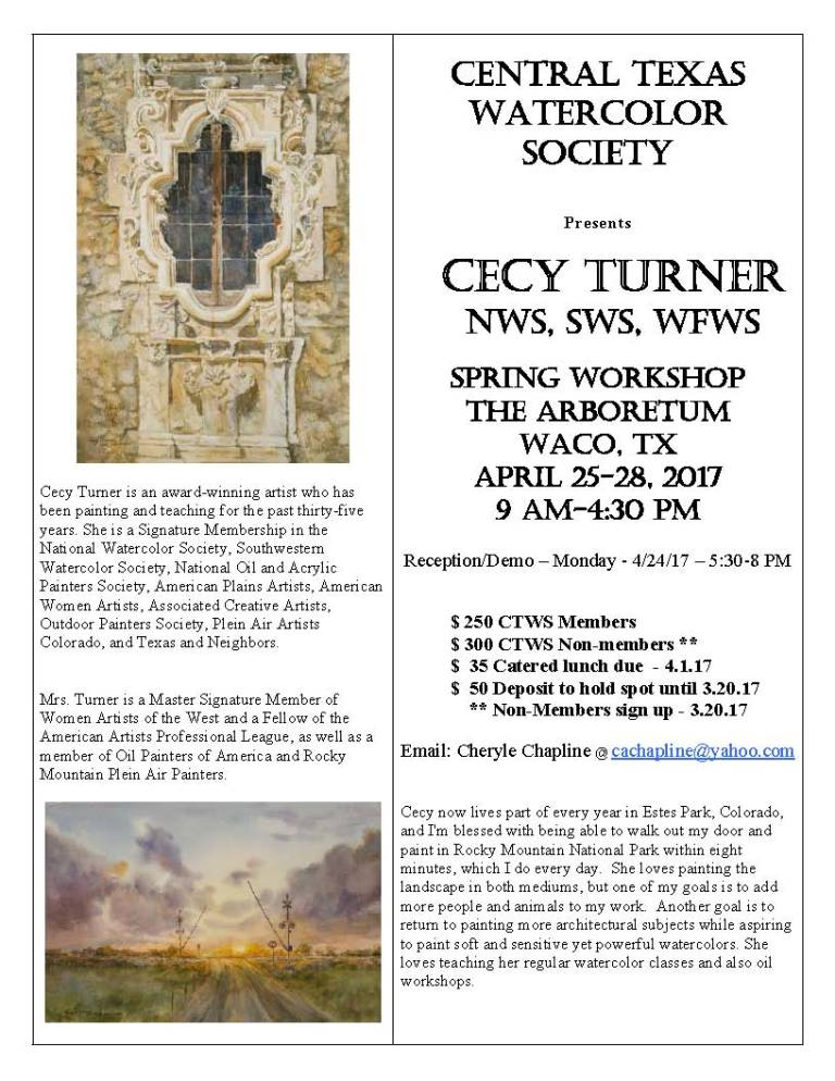 2017 CTWS Spring Workshop Cecy Turner 1
